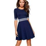 Отличие от причинной короткую втулку платья строки в деловой стиль одежды женщин