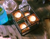 Custom металлические держатели при свечах с стекло наружного кольца подшипника