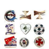 Promoção dons barato emblema grossista latão personalizado 3D Ouro Monograma policial artesanato de metal duro esmalte macio Loja Pin de lapela (113)