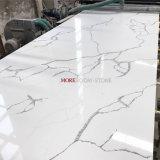 Foshan pedra artificial Calacatta mármore branco olhar pedra de quartzo para bancada da cozinha
