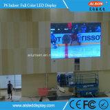 Visualización video a todo color de interior vendedora caliente de HD P6 LED para hacer publicidad