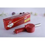 Boîte cadeau de couleur rouge barbecue avec ventilateur tube en acier inoxydable