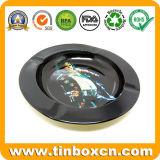 Embalagem de metal redonda cinzeiro para promoção de folha de flandres loja de presentes
