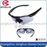 Gafas antirreflejos de la visión nocturna de la marca de fábrica de la etiqueta privada de encargo de los anteojos 2016 militares anti-rasguñados de la visión nocturna