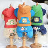 Chien Customzied Hoodie Jumpsuit Coral velours Vêtements pet