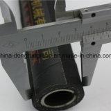 Flache Stahlspirale, Stahlmaschendraht verstärkt. Schmieröl-beständiger Gummischlauch
