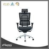 黒い網のErgohuman様式の椅子のヘッドレストのオフィスの椅子