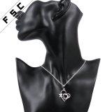 """方法18 """"女の子のための銀によってめっきされる中心の形の吊り下げ式のネックレス"""