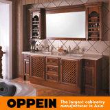 Clásico de madera maciza Oppein baño de lujo vanidad (OP13-055-230)
