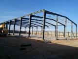 Edifício pré-fabricado longo do armazém da construção de aço da extensão em África