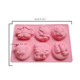 La FDA délivrent un certificat le moulage matériel de gâteau de silicones de catégorie comestible, moulage de gâteau des silicones 12 formé par constellation
