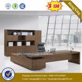Walnuss-Melamin lamellierter moderner Büro-Tisch (HX-ET14041)