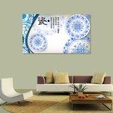 La pintura china impresa Digitaces azul y blanca de las placas para la decoración casera