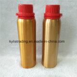 bouteille en aluminium d'huiles essentielles aromatiques de l'or 250ml avec le chapeau évident Aeob-9 de trempe