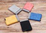 El bloqueo de RFID minimalista PU de cuero delgado Frente bolsillo de la carpeta