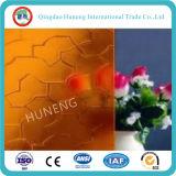 Vidrio de patrón claro y coloreado con certificación SGS de ISO