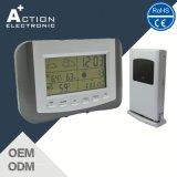 Estação meteorológica sem fios com certificação CE relógio com alarme e soneca