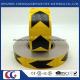 Schwarzer und gelber Pfeil Belüftung-reflektierendes Band mit Kristallgitter