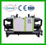 Refrigerador refrigerado por agua del tornillo (tipo doble) Bks-410W2