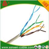 Пвх / LSZH куртка UTP кабель Cat5e 305 м в коробке 23AWG медный проводник Cat5e