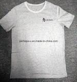 Maglietta all'ingrosso di modo degli uomini del cotone con il marchio