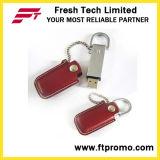 Изготовленный на заказ выдвиженческий кожаный привод вспышки USB типа (D504)