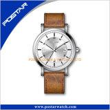 Stigmatiser votre propre montre-bracelet de Miyota de logo bande de cuir véritable