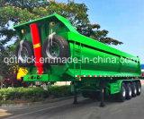 Popular de Vietnam 3 ejes en forma de U remolque basculante