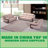 Sofa en cuir moderne de type américain de mode avec en bois