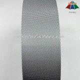 tessitura di nylon del tessuto diagonale di Grey d'argento di 5cm per lo zaino dell'alta qualità