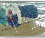 Carrete de la cuerda del carril de la cubierta del rodillo de la piscina de los accesorios de la piscina