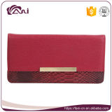 Бумажник женщин типа застежка-молнии красного цвета Handmade с высоким качеством