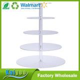 4-tier Cupcake apiladas parte de la torre y postres Pastel de acrílico soporte