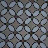 Роскошная плитка Backsplash кухни мозаики мрамора конструкции