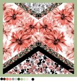 Abnehmer Selbst Entwurfs-Blumen-Drucken-Dame Sqaure Scarf