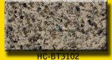 Parte superior ou bancada artificial da vaidade de quartzo da cor complexa