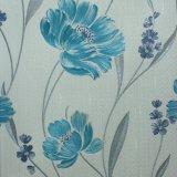 Papel pared de la flor del diseño del damasco profundo en relieve de vinilo para Hotel