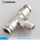 T maschio adatto Ss316L Fiting del metallo pneumatico di Xhnotion
