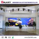 Visualização óptica video fixa interna da parede do diodo emissor de luz para anunciar