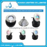 Luces ahuecadas subacuáticas de la piscina de DC12V RGB IP68 LED