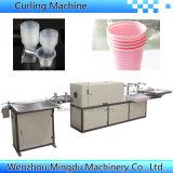 Máquina de ondulação do copo plástico automático cheio