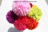 결혼식을%s 도매 실크 POM Poms 인공 꽃 공 가짜 Hydrangea 꽃