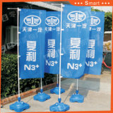 Heiße verkaufen3m Strand-Markierungsfahnen-Wasser-Unterseiten-im Freienbekanntmachenmarkierungsfahnen