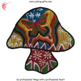 Embroidered Patch Lovely Mushroom Logo for Garments (YH-EB137)