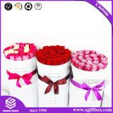Weiß, das erstklassigen kundenspezifischen umfangreichen runden Blumen-Kasten verpackt