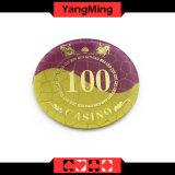 O acrílico/póquer de cristal lasca o engranzamento que bronzeia as microplaquetas Ym-Cp005 do casino da tela de seda