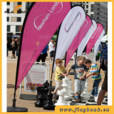 Pubblicità della bandiera portatile del Teardrop della vetroresina della bandierina di spiaggia