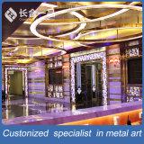Parete divisoria personalizzata di figura dorata di fabbricazione della fabbrica per il centro di KTV/Hotel/Beauty