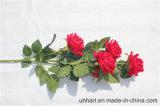 Hight Qualitätsrote Seide blüht künstliche Rose für Verbindungs-Dekoration