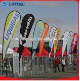 Facendo pubblicità alla visualizzazione della bandiera della fiera commerciale della bandierina della bandiera della spiaggia (LT-17C)